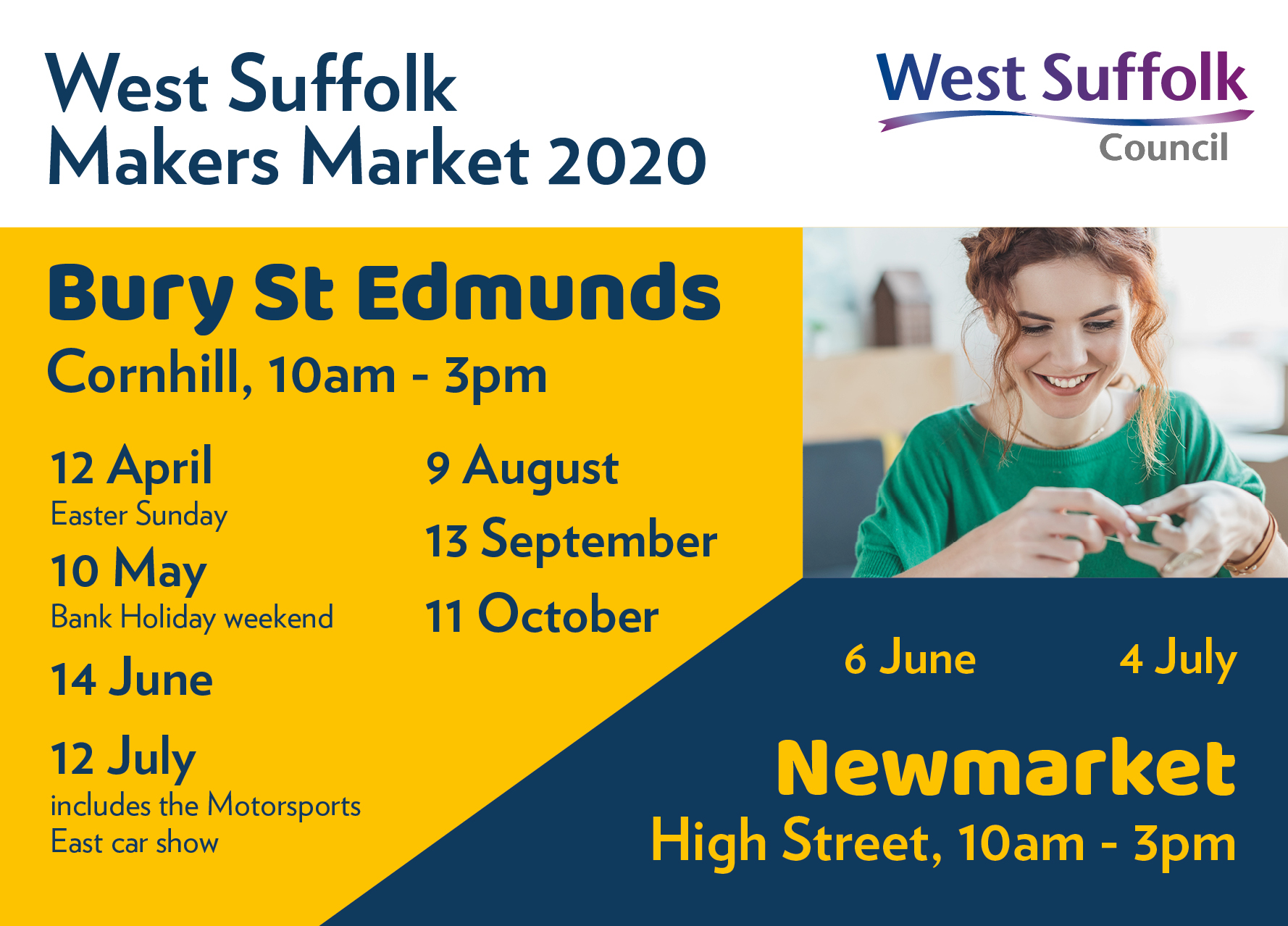 West Suffolk Makers Market poster