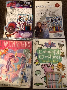 The Toy Den colouring books