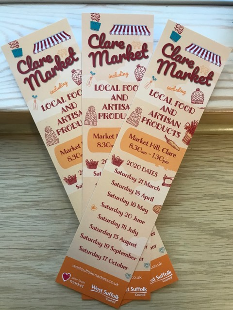 Three Clare Market bookmarks